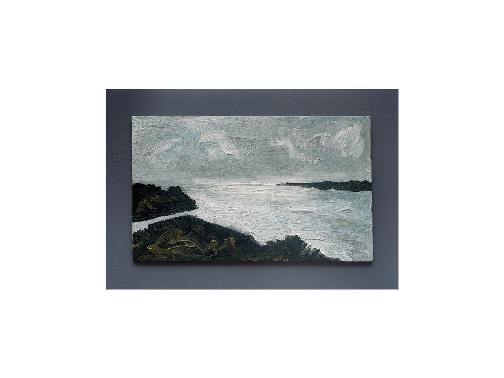 James Clayden   Study, Inlet , 2015 oil on board 20 x 33 cm   ARTIST BIO