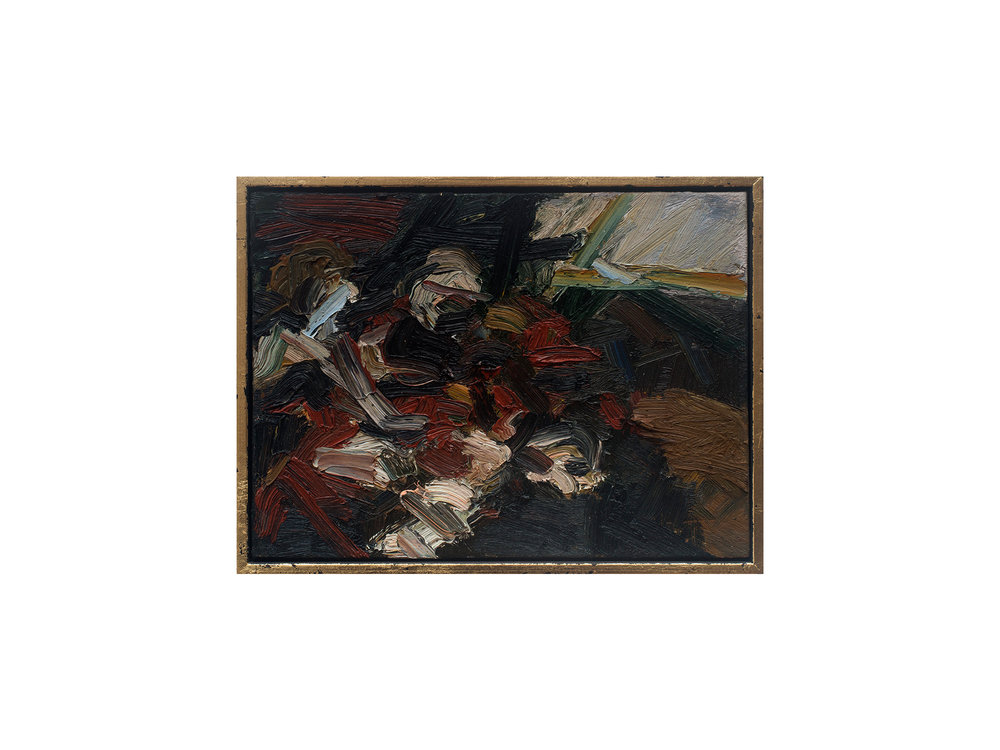 James Clayden   Study After Caravaggio's The Sacrifice of Abraham , 2016 oil on canvas board 15 x 20 cm   ARTIST BIO