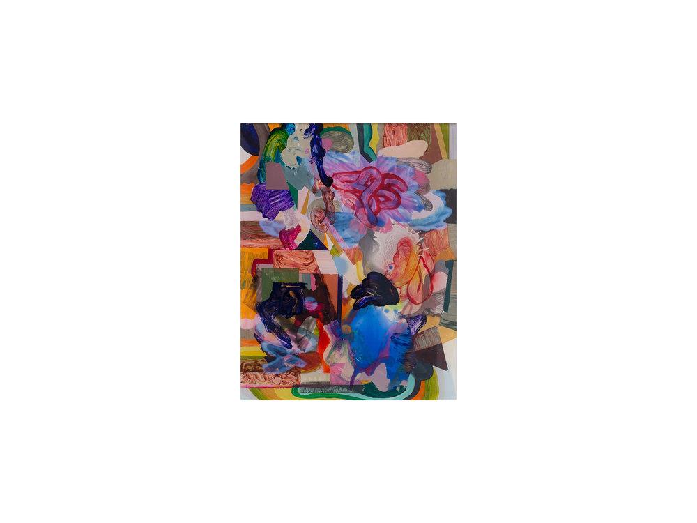 Michael Jäger   Heap # 3 , 2009 acrylglas, oil, acrylic, lacquer on Dibond 39 x 26cm