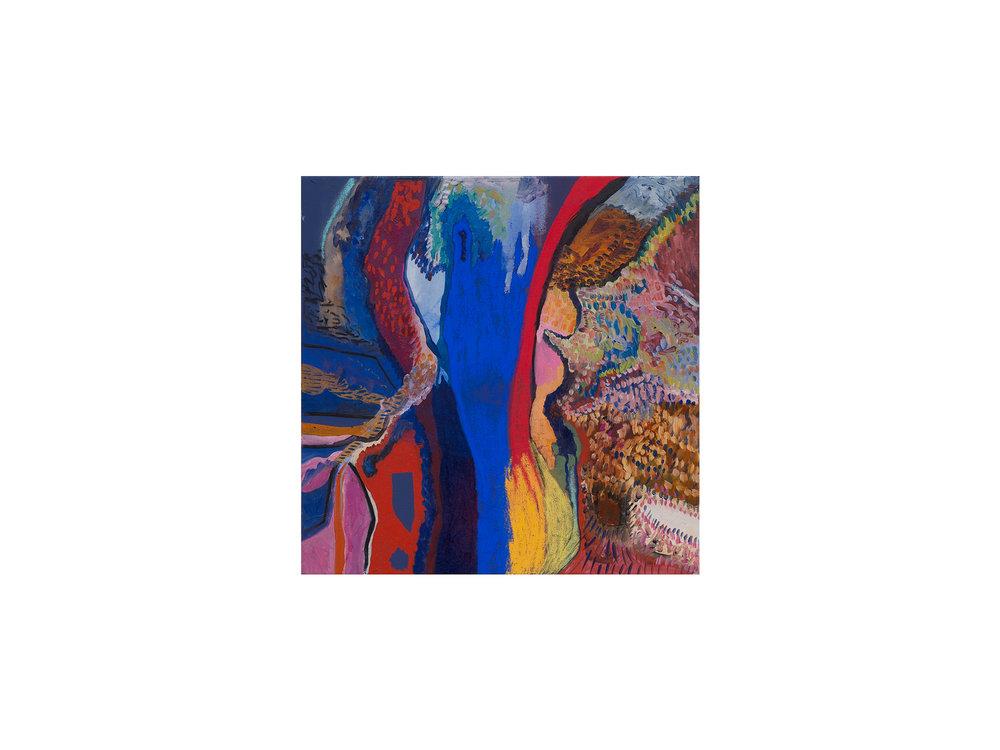 Mary Barton   3am Studio Window, Kyneton,  2017 oil, acrylic and pastel on canvas 51 x 51cm   ARTIST BIO