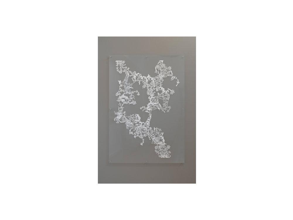 Emma van Leest   Héloïse,  2010 hand-cut archival paper mounted between perspex 167 x 91cm