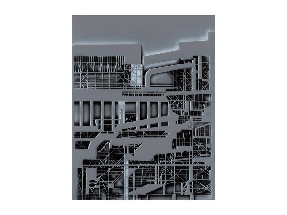 Louise Forthun   Glow ,   2018 acrylic on linen 150 x 116cm   ARTIST BIO