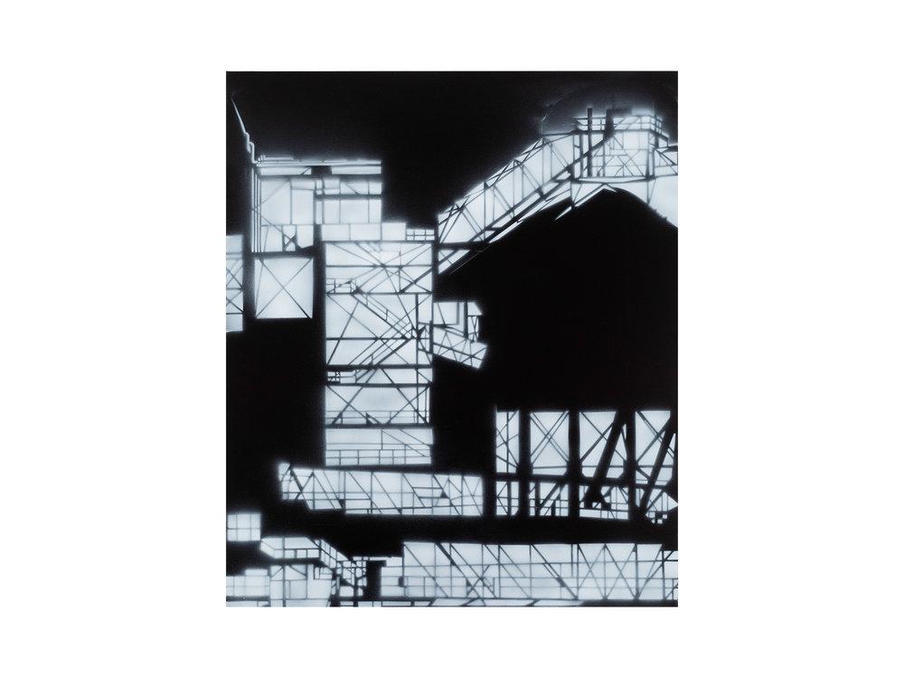 Louise Forthun   Misty ,   2018 acrylic on linen 107 x 90cm   ARTIST BIO