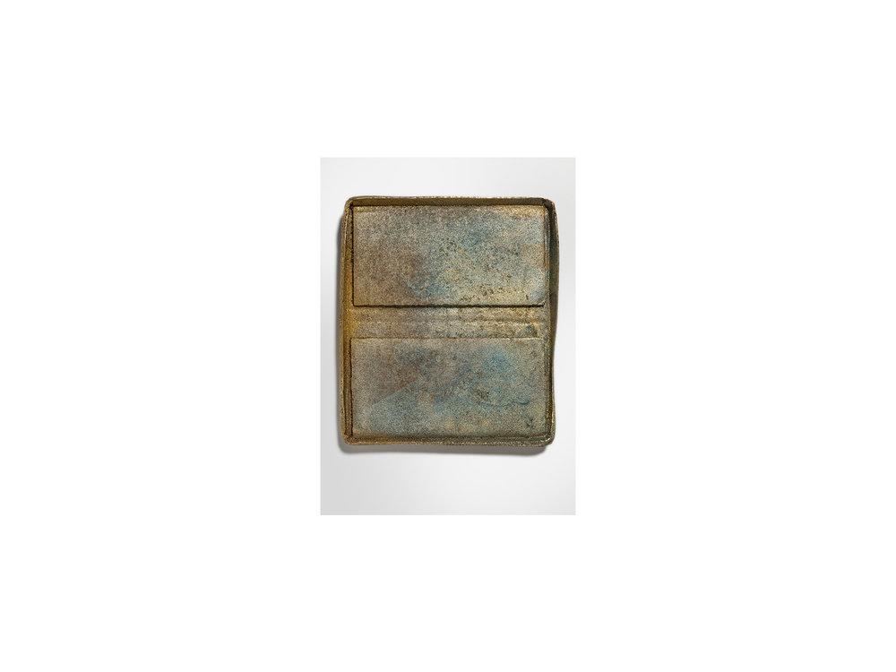 Jo Wilson   Tuck , 2018 cast bronze and wax  70 x 31 x 2cm