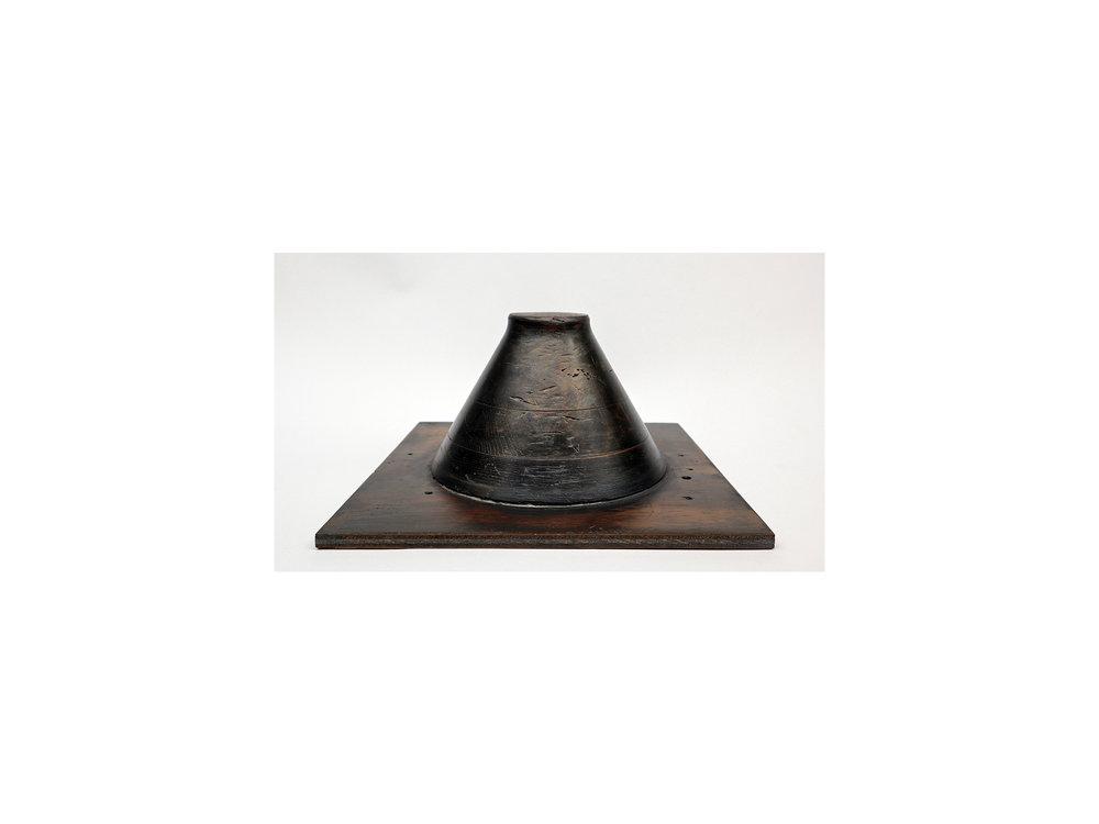 Jo Wilson   Barrel/RJW , 2018 salvaged pattern, pigment and Danish oil  37 x 37 x 26cm
