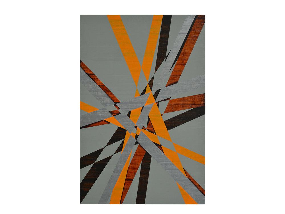 Justin Andrews   Cosmic Painting (2018.1A) , 2018  acrylic on braced panel 90 x 60 cm   ARTIST BIO