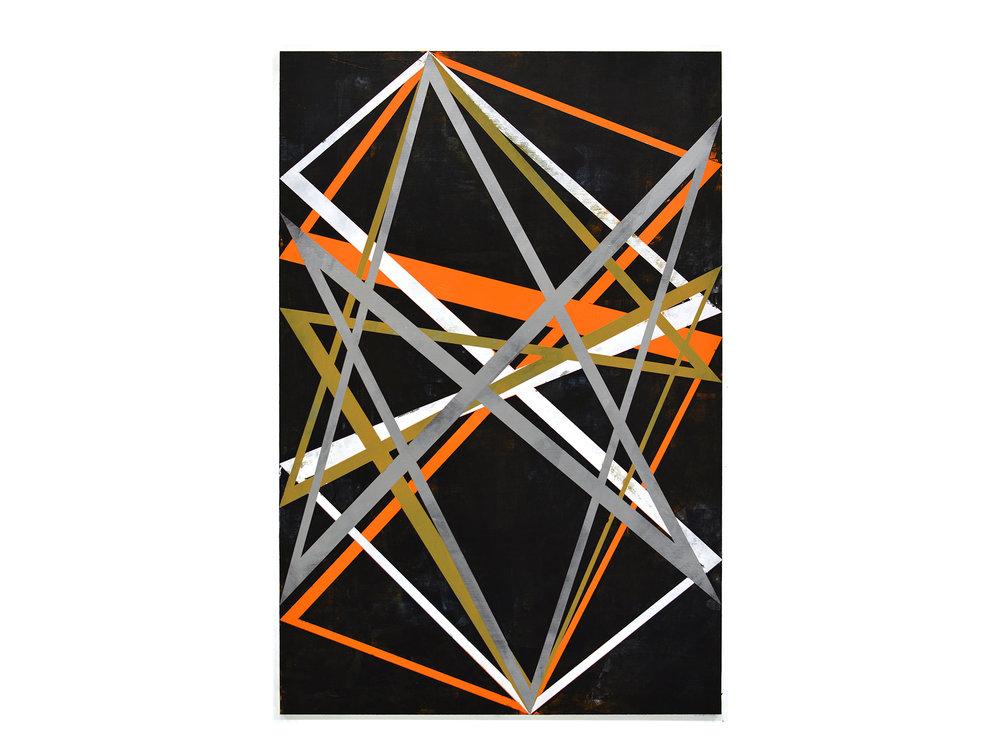Justin Andrews   Constructive Painting 6/6 , 2018  acrylic on braced panel 90 x 60cm   ARTIST BIO