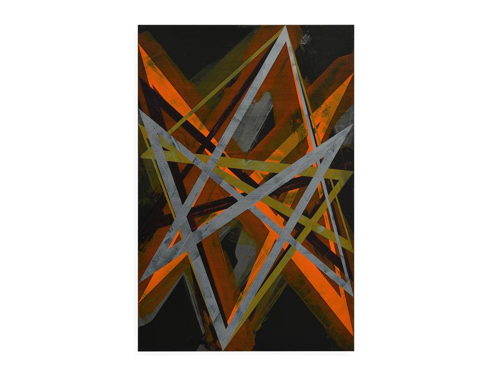 Justin Andrews   Cosmic Painting (2018.3) , 2018  acrylic on braced panel 90 x 60 cm   ARTIST BIO