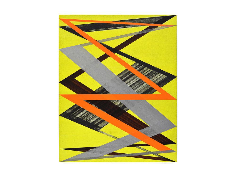 Justin Andrews   Lissajous , 2018 acrylic on braced canvas panel  75 x 60cm   ARTIST BIO