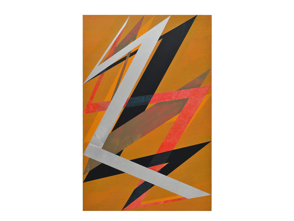 Justin Andrews   Space Force Painting A , 2018 acrylic on braced panel 90 x 60cm   ARTIST BIO