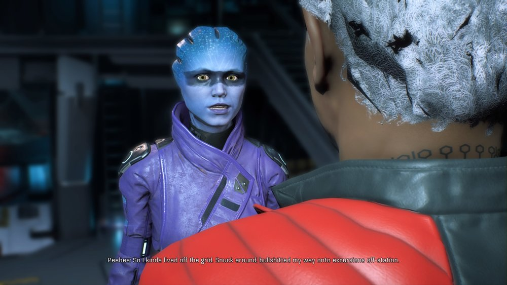 Peebee has some of the best animation in game.