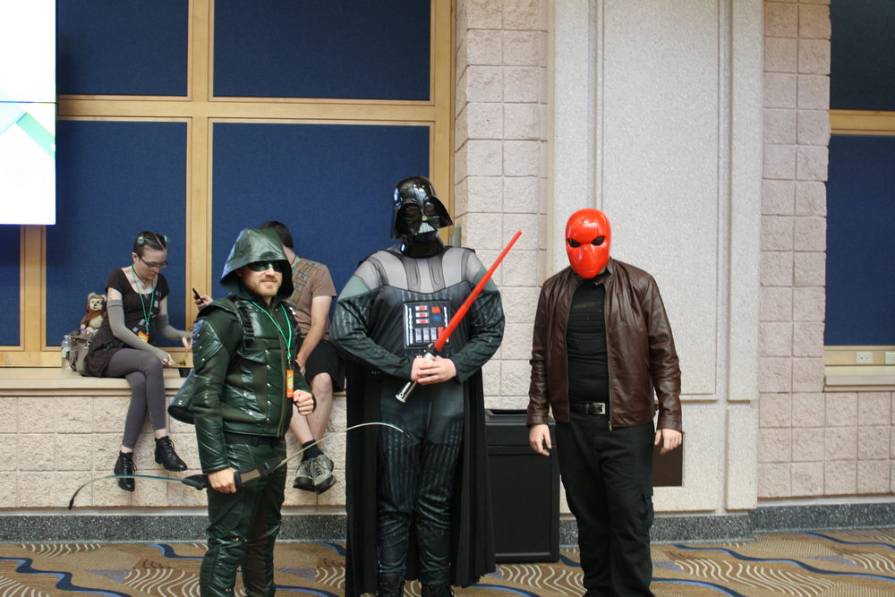 The Arrow, Redhood, and Darth Vader