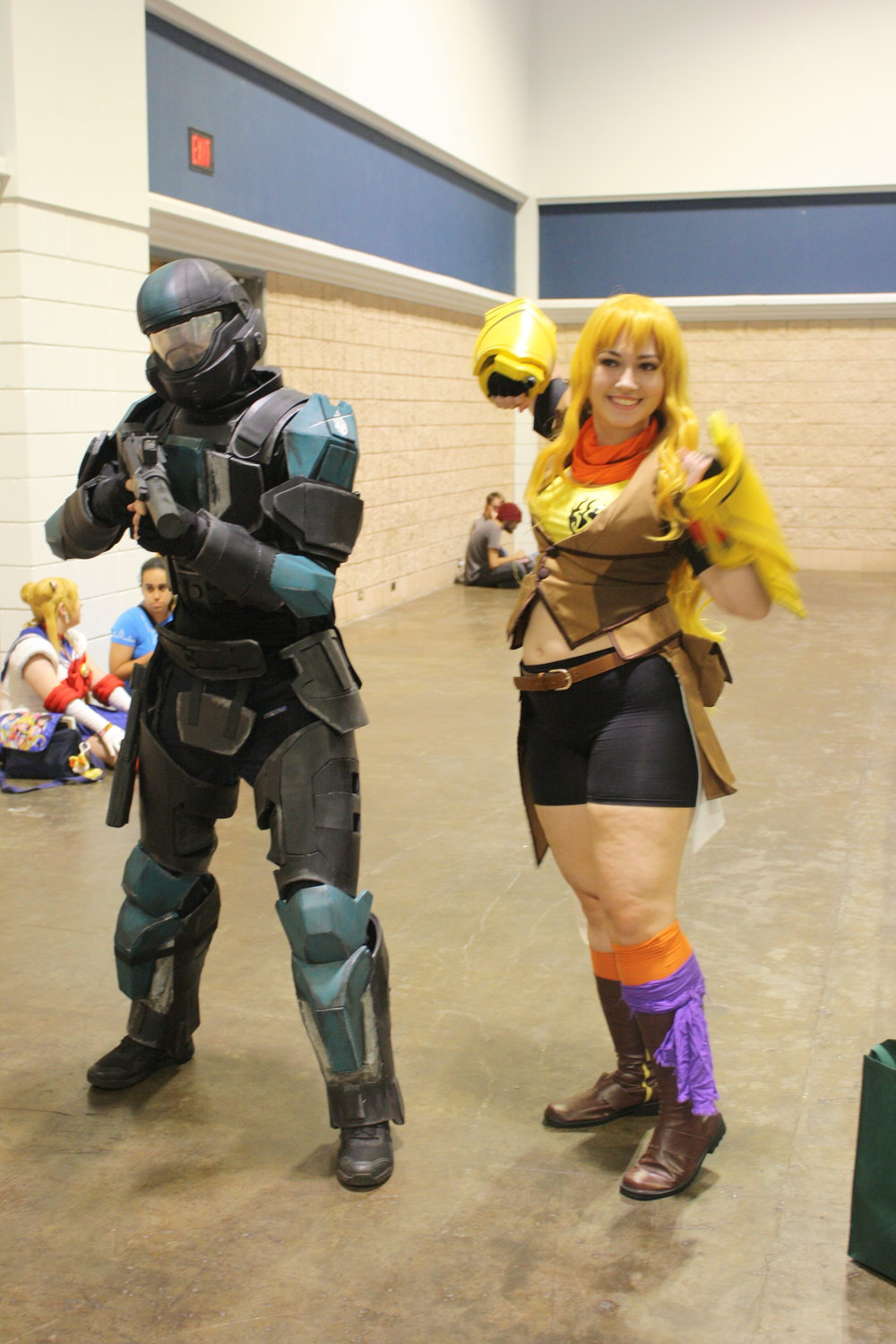 Yang (RWBY) and Spartan (Halo)