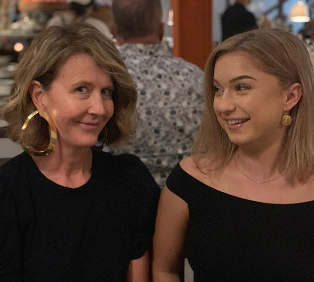 Feel free to caption this little pic  of Suzie & Abbi @grecarestaurant 💬 #whatssofunny