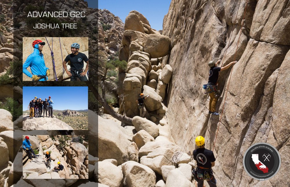 Joshua Tree outdoor climbing day with the G2C Gym to Crag first round