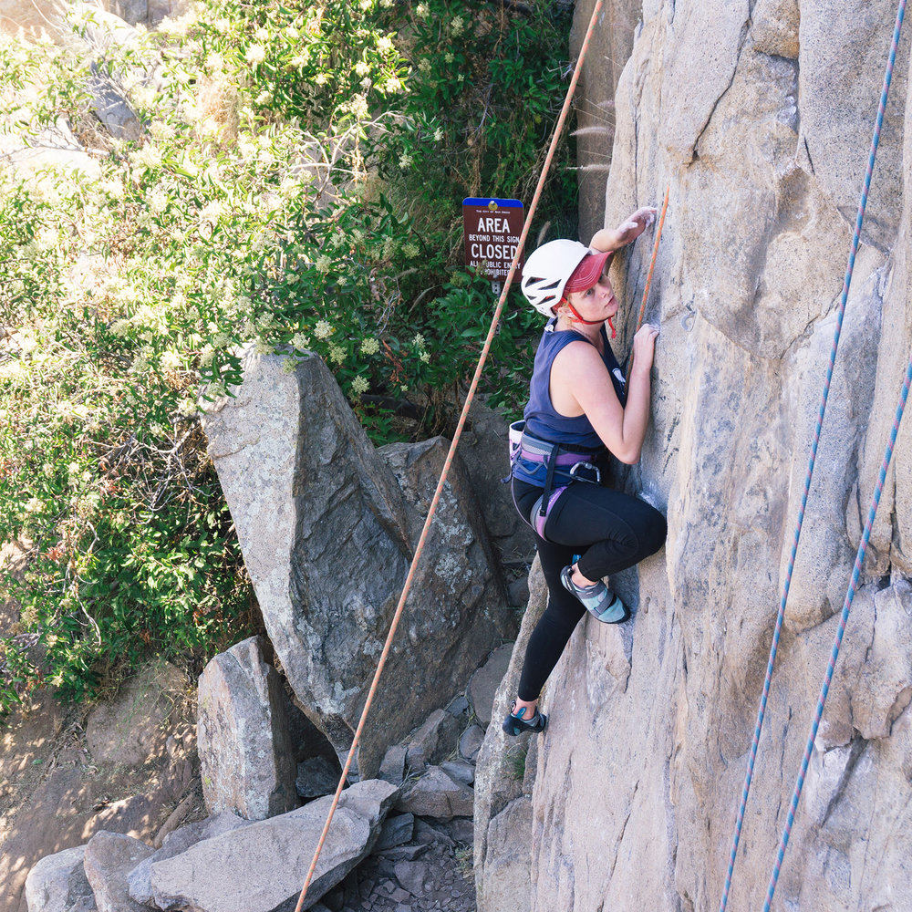 Rock Climbing Mission Gorge Southern California San Diego
