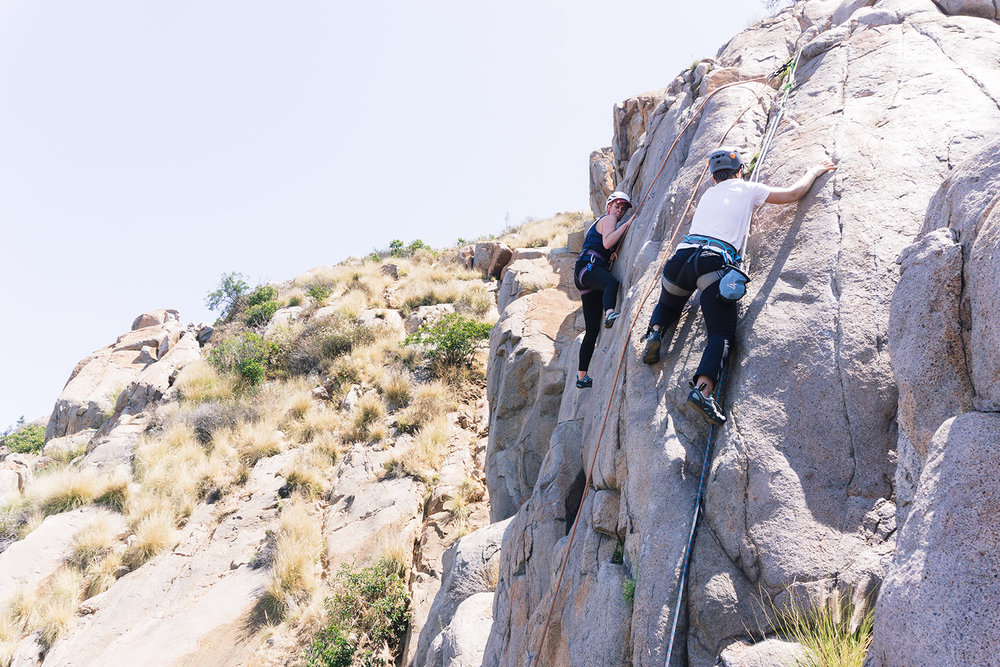 Rock climbing Mission Gorge San Diego, Southern California