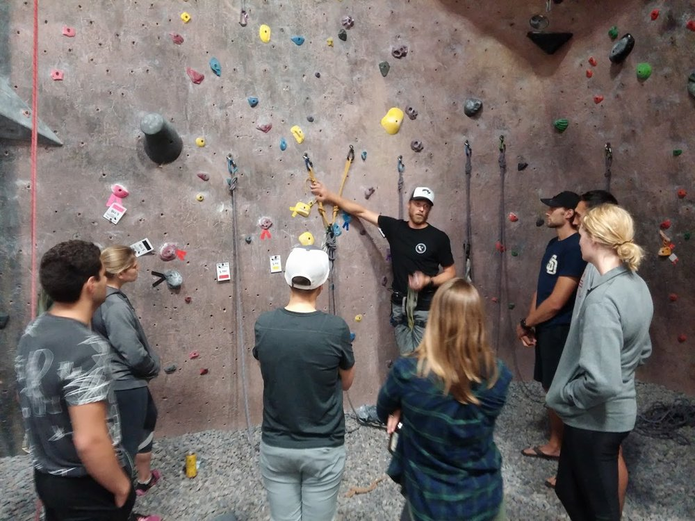 Top Rope Anchors for Rock Climbing Outdoors, San Diego Southern California