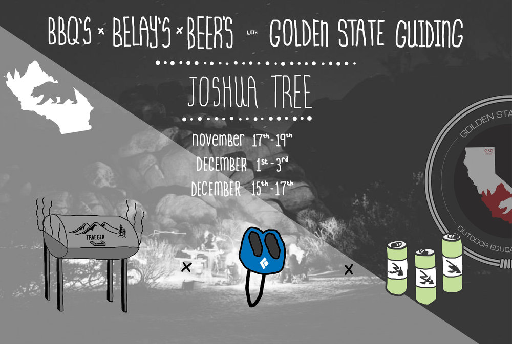 Joshua Tree Rock Climbing Event BBQ's x BELAY's x BEER's