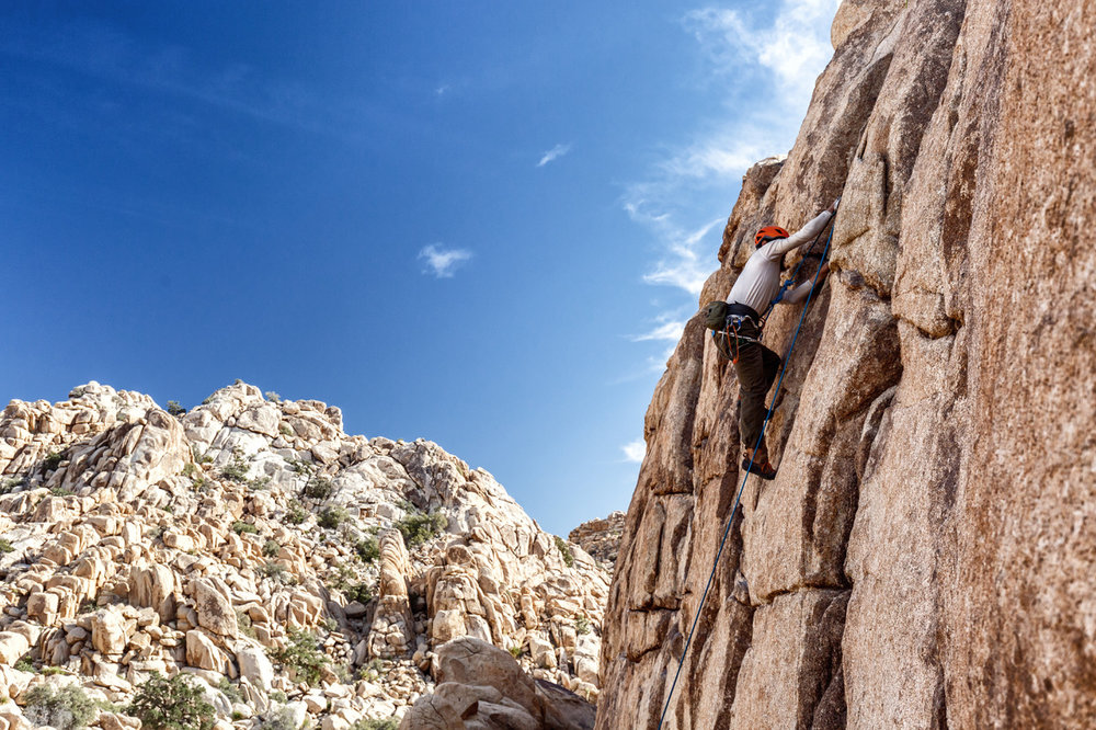 Joshua Tree Rock Climbing Atlantis Wall