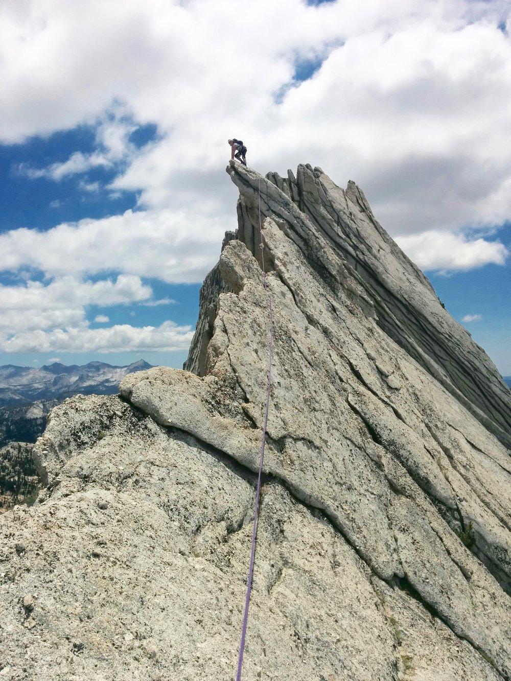 Lauren Breitenbach Rock Climbing Sierra Nevada, Yosemite Matthes Crest