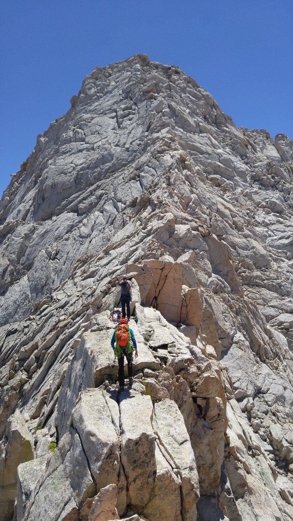 North Ridge Lone Pine Peak Headwall