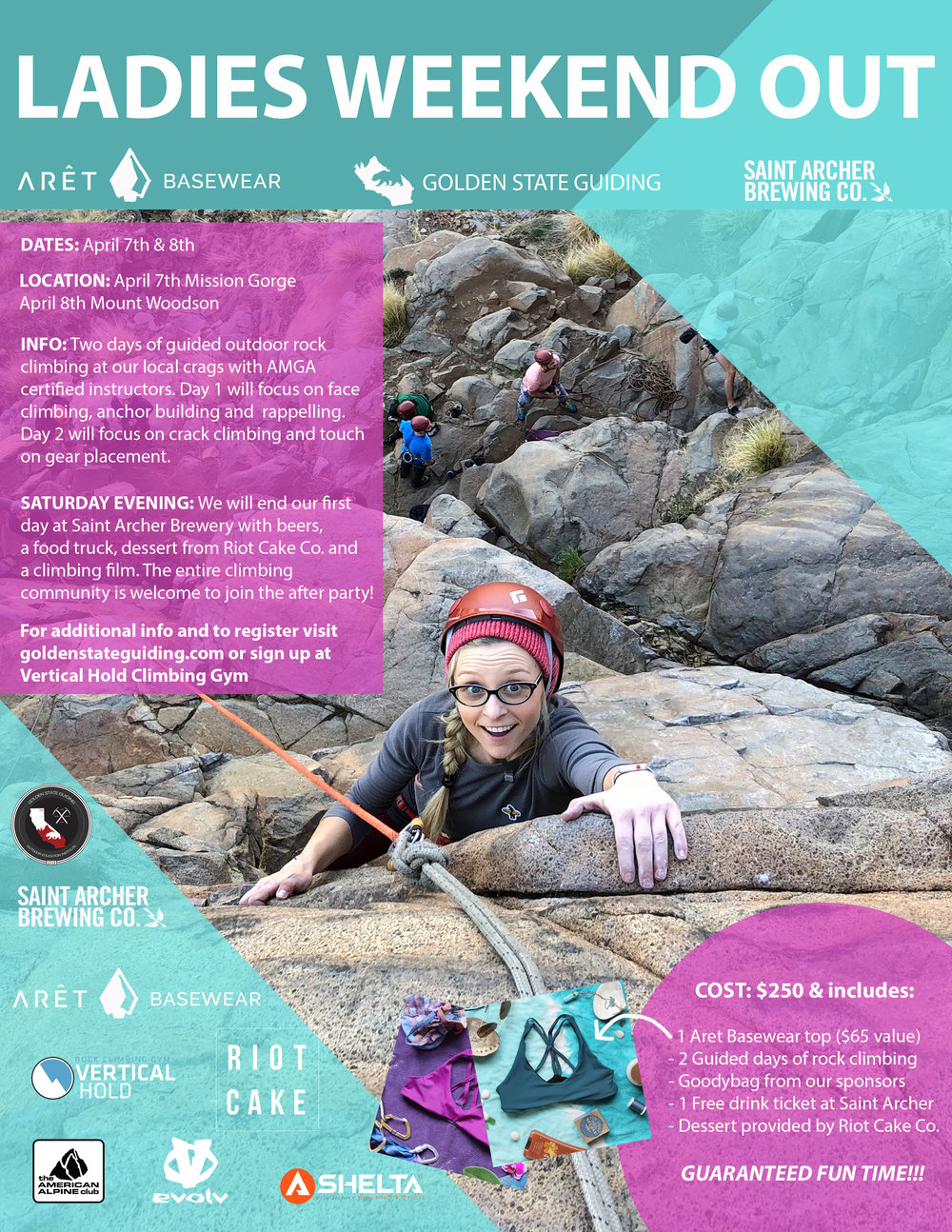 Ladies Weekend Out Climbing Event