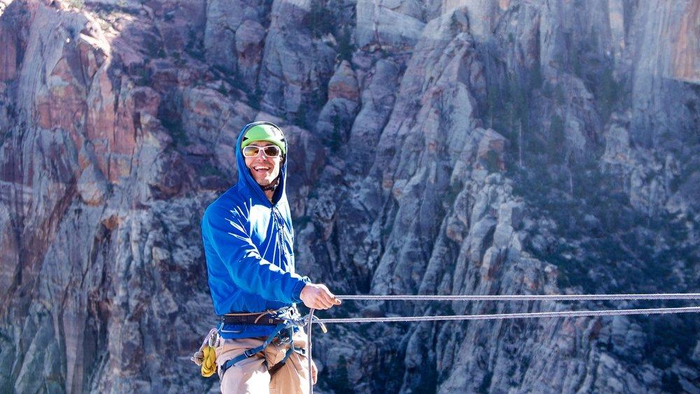 TJ Ciotti Rock Climbing Zion National Park