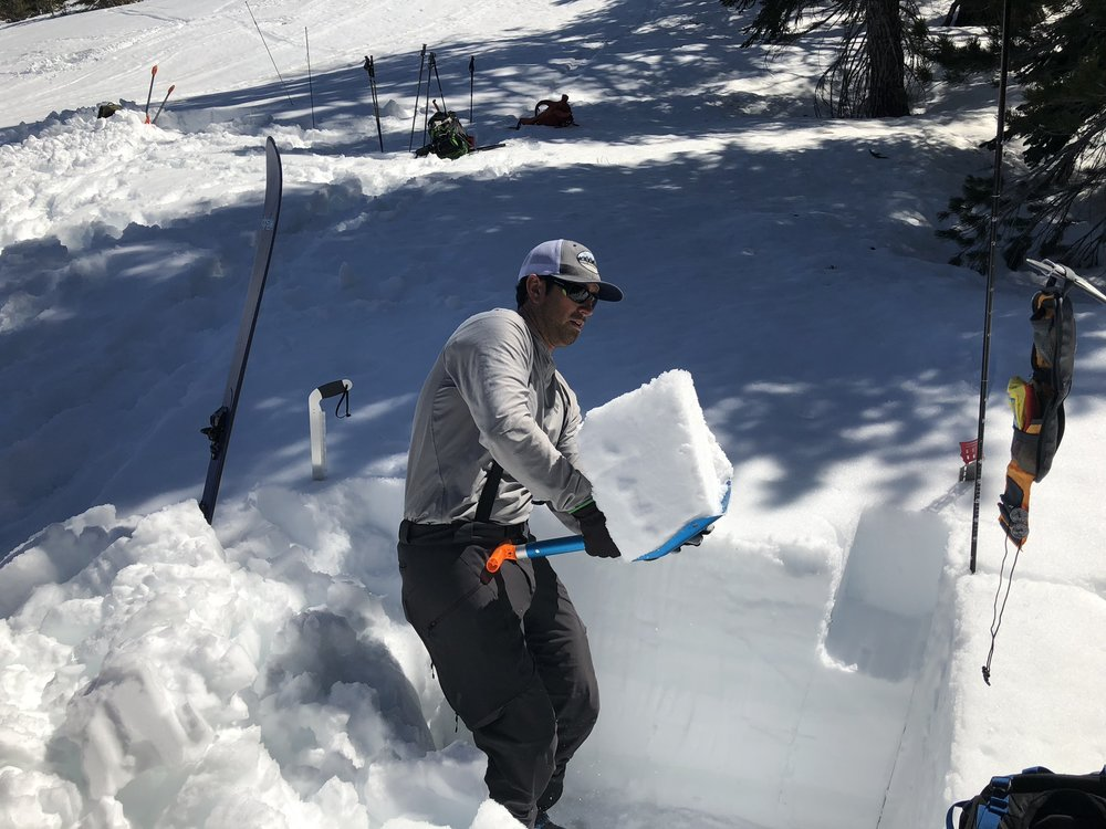 Ryan Huetter Avalanche Course Eastern Sierra Mammoth Lakes