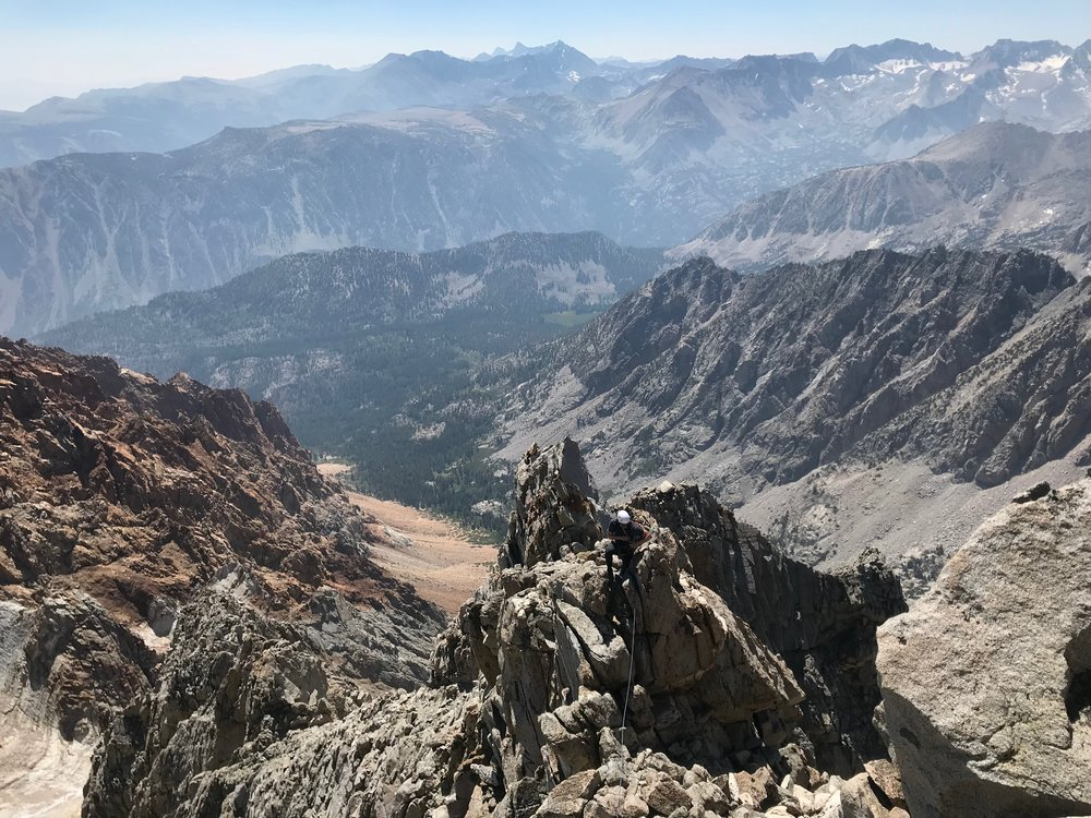 Mount Emerson Eastern Sierra Rock Climbing South East Face Waterfall Route