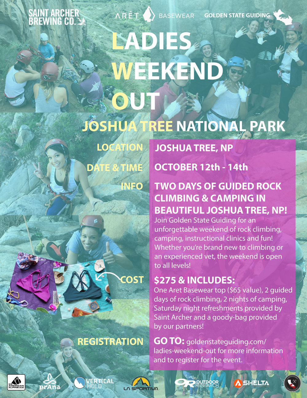 Ladies Weekend Out Event Joshua Tree Rock Climbing