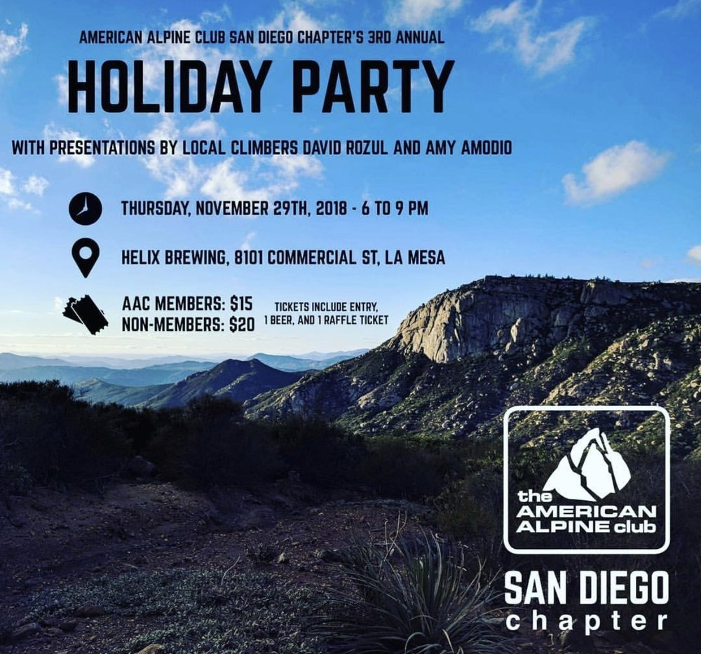 American Alpine Club Holiday Party