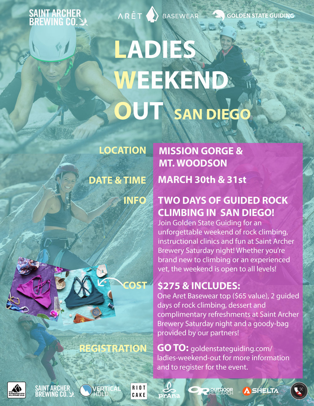 Ladies Weekend Out Event San Diego Rock Climbing