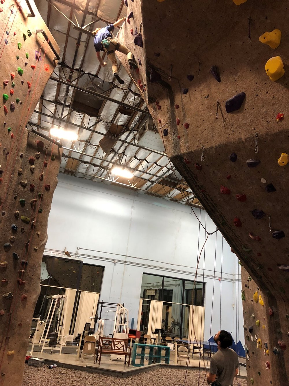 Lead Climbing Vertical Hold Climbing Gym