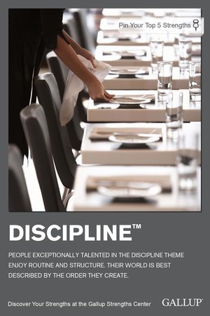 Discipline Talent Theme StrengthsFinder Singapore