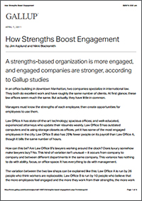 How Strengths Boost Engagement (Gallup)