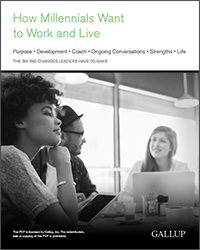 How Millennials Want to Work and Live (Gallup 2016 Report)