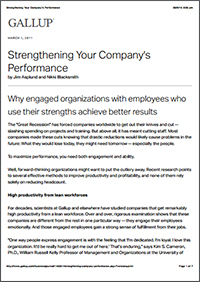 Strengthening Your Company's Performance (Gallup)