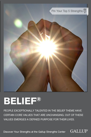 Growing The Strengthsfinder Belief Talent Theme