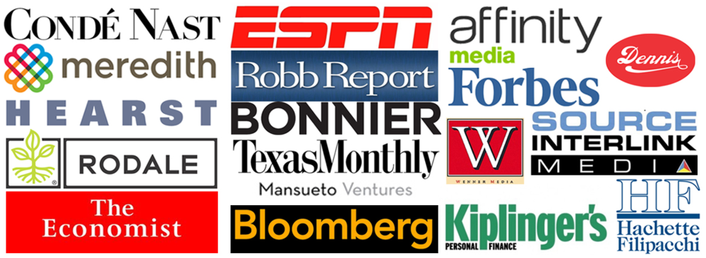 Just a few of our 400+ Publishing Partner Options