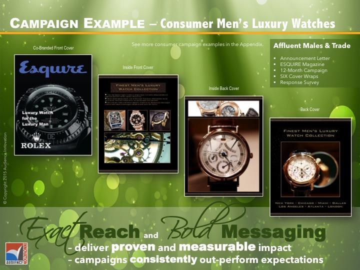 CONSUMER –Watches, Affluent Men