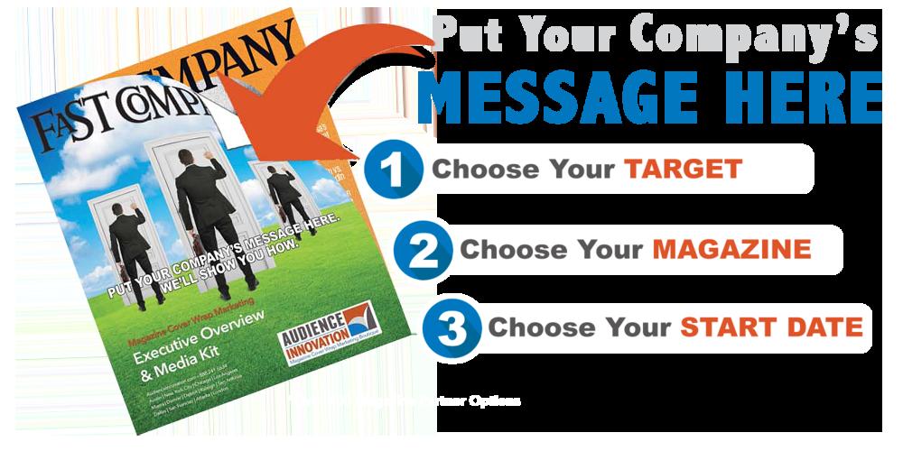 Audience Innovation Magazine Cover Wrap Marketing Steps