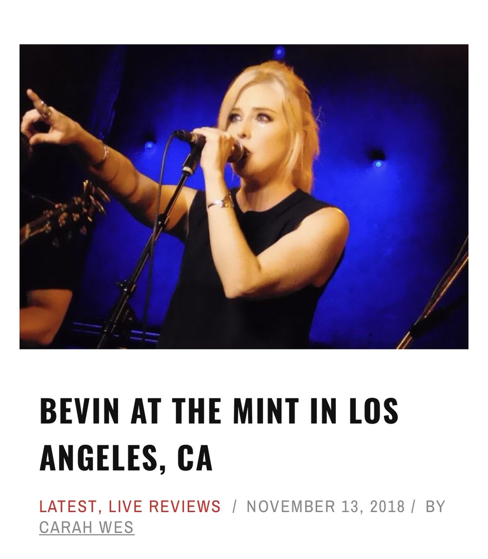 Bevin @ The Mint
