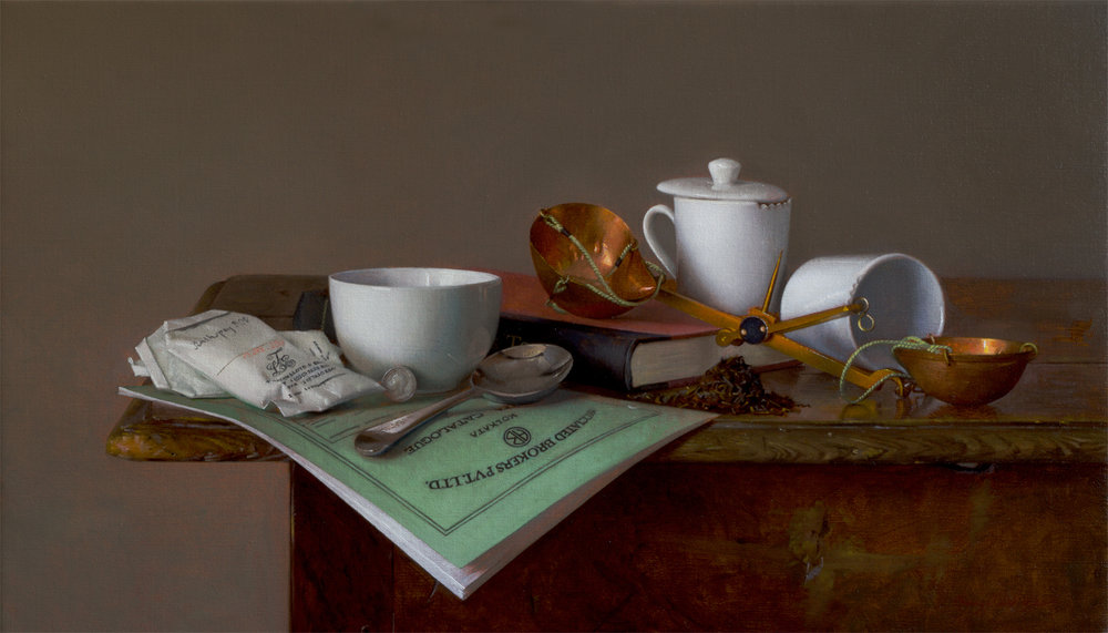 Commissioned Still-life Painting for Tea Merchant Client