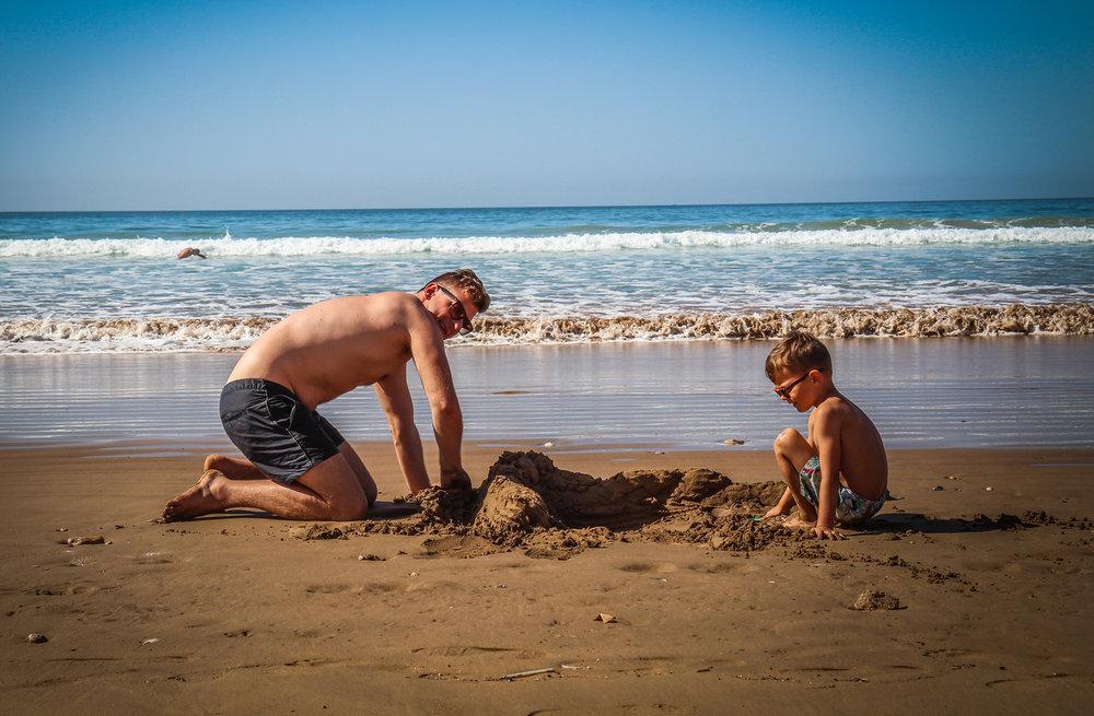 Hyatt Taghazout Bay - Reizen met kinderen - zandkasteel.jpg