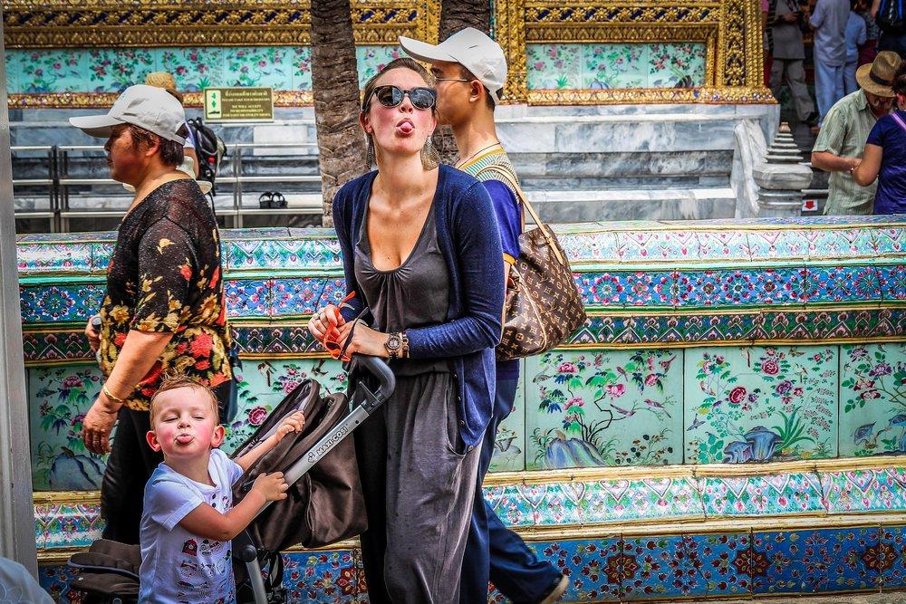 Bangkok met kinderen - Grand Palace met koets