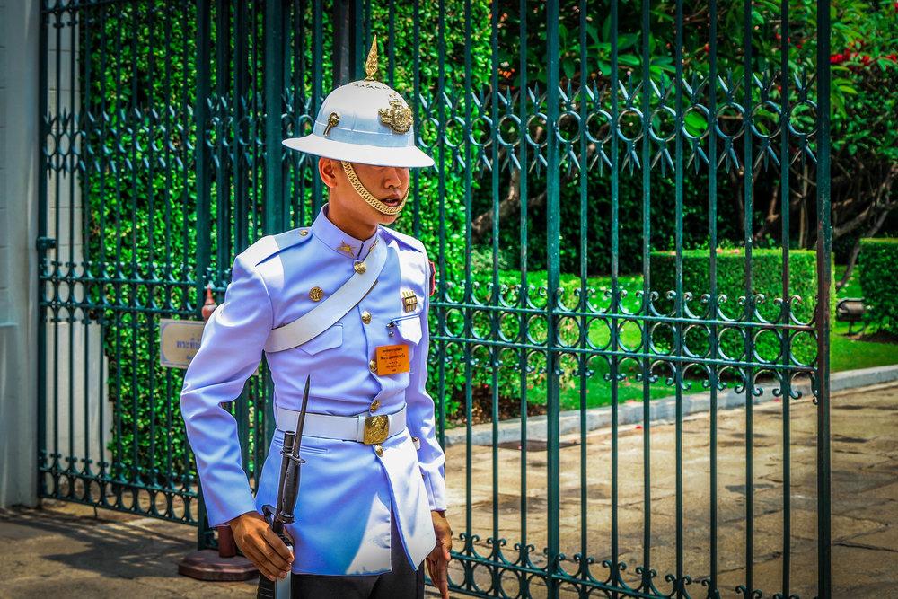 Bangkok met kinderen - Grand Palace wachters