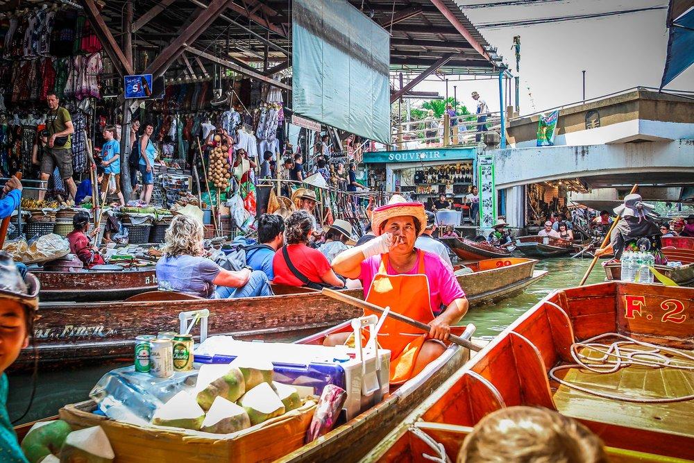 Bangkok met kinderen - Drijvende markt - Damnoen Saduak