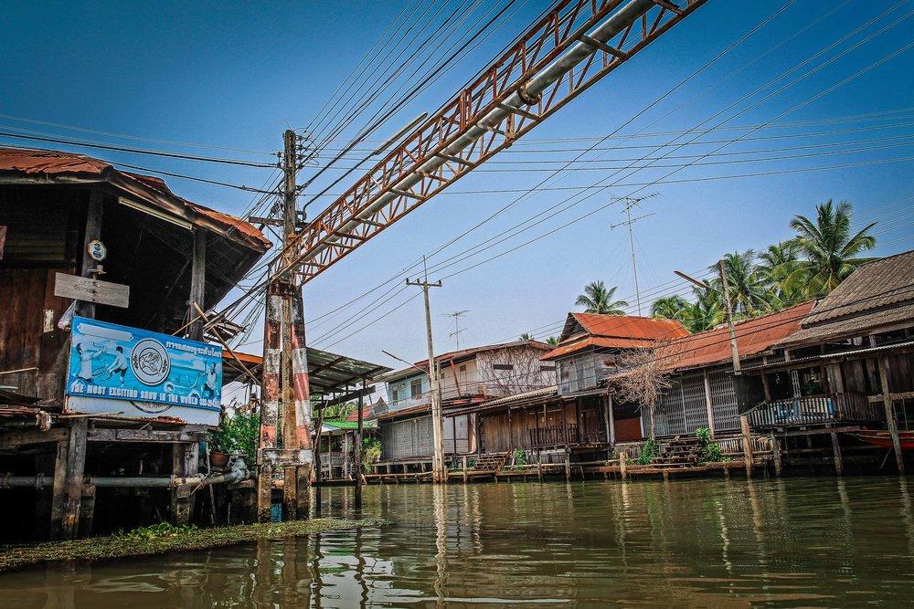 Bangkok met kinderen - Drijvende markt - Damnoen Saduak - Niet toeristisch deel
