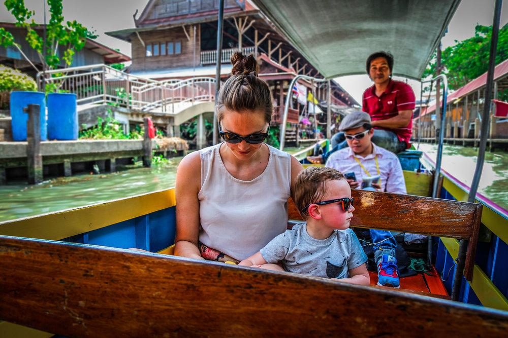 Bangkok met kinderen - Drijvende markt - Damnoen Saduak - Prive tour